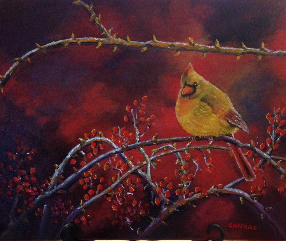 Hawthorne Berries & Cardinal